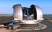 Concepção artística do European Extremely Large Telescope