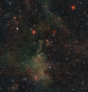 Wide-field view of the sky around the cometary globule CG4