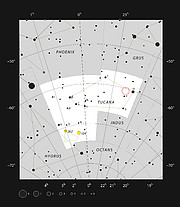 Глубокое поле Hubble Deep Field South в созвездии Тукана