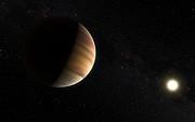 Künstlerische Darstellung des Exoplaneten 51 Pegasi b