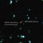 ALMA wird Zeuge der Bildung von Galaxien im frühen Universum (beschriftet)