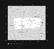 Location of the Sculptor dwarf galaxy
