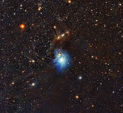 Young star lights up reflection nebula IC 2631