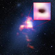 Samengestelde opname van de Abell 2597 Brightest Cluster Galaxy