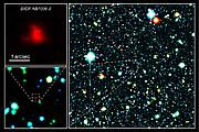 Fragment pola z przeglądu Subaru XMM-Newton Deep Survey (kolory sztuczne)