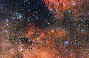 The star cluster Messier 18 and its surroundings