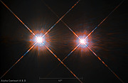 A estrela dupla Alfa Centauri AB