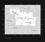 A galáxia vista de perfil NGC 1055 na constelação da Baleia