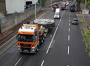 Der Sekundärspiegel des ELT während des Transports zur Austemperungsanlage