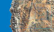 Карта новых подключений энергосети Чили к обсерваториям Параналь и Армазонес