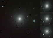 Mosaic of VISTA images of NGC 4993 showing changing kilonova