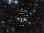 Annotated view of the sky surrounding NGC 1316