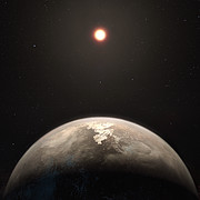 Illustration af exoplaneten Ross 128 b