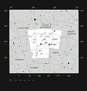 The red giant star π1 Gruis in the constellation of Grus