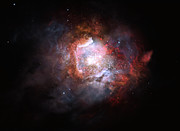 Artist's impression of a starburst galaxy