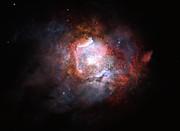 Künstlerische Darstellung einer Starburstgalaxie