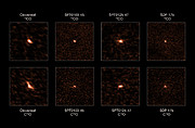 ALMA observations of four distant starburst galaxies