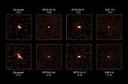 Observations de quatre galaxies lointaines à sursauts d'étoiles au moyen d'ALMA