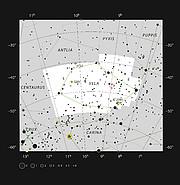 RCW 38 dans la constellation des Voiles