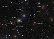 Vue annotée du ciel environnant NGC 5018