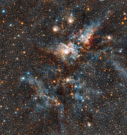 The Carina Nebula in infrared light