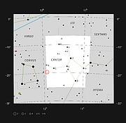 NGC 3981 en la constelación de Crater