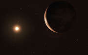 Artist's impression of super-Earth orbiting Barnard's Star