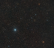 Widefield image of the sky around Barnard's Star showing its motion