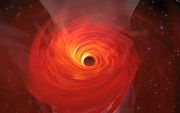 Simulation of a Supermassive Black Hole