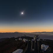 The diamond-ring effect seen at La Silla Observatory
