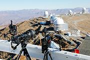 Camera's klaar voor de eclips