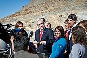 Sebastián Piñera chilei elnök beszédet mond a La Silla Obszervatóriumban