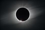 O Sol durante a totalidade no Observatório de La Silla