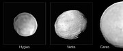 SPHERE images of Hygiea, Vesta and Ceres
