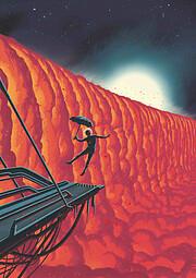 Ilustrace planety WASP-76b