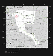 Location of AT2019qiz in the constellation of Eridanus