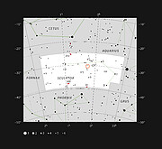 Location of the TOI-178 planetary system in the constellation of Sculptor