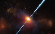 Konstnärlig bild av kvasaren P172+18
