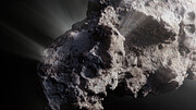 Artist's impression of the surface of interstellar comet 2I/Borisov (close up)