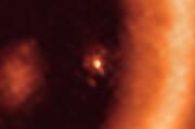 ALMA-Aufnahme einer mondbildenden Scheibe um den Exoplaneten PDS 70c