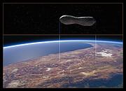 Comparaison entre les dimensions de l'astéroïde Kleopatra et celles du Chili