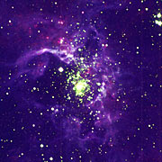 Colour rendering of Tarantula Nebula in LMC
