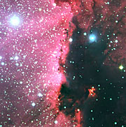 Detail of star-forming region RCW 108 in Ara