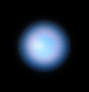 Neptune from the VLT without MUSE Narrow Field Mode adaptive optics