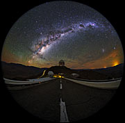 Fish-eye view of La Silla shown in UHD