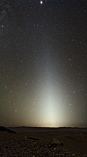 Zodiacal light seen from Paranal
