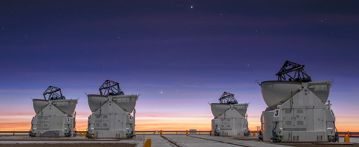 "From European Southern Observatory: ""NAOMI Sees First Light"