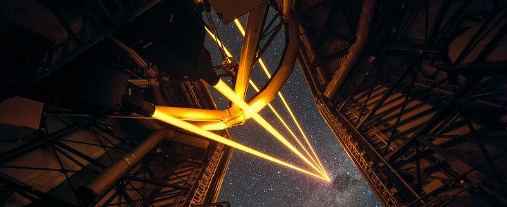 4 lasere guider ESO teleskoper