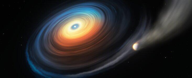 Exoplanet er større end moderstjernen