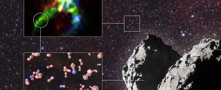 Spor af fosfor som er en forudsætning for liv, i stjernedannelser og på kometer
